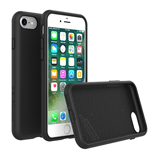 RhinoShield Case for iPhone 8 / iPhone 7 [NOT Plus] | [PlayProof] | Heavy Duty Shock Absorbent [High Durability] Scratch Resistant. Ultra Thin. 11ft Drop Protection Rugged Cover - Black