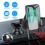 Wireless Car Charger Mount,CNSL Automatic Clamping Charger Car Stand,10W Qi Fast Charging Cell Phone Holder,Air Vent Windshield Dashboard,Compatible with iPhone Xs MAX/XS/XR/X/8/8+, Samsung S10/S10+