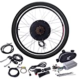 JAXPETY 48V 1000W Electric Bicycle Cycle E Bike 26' Rear Wheel Ebike Hub Motor Conversion Kit Hub Motor Wheel