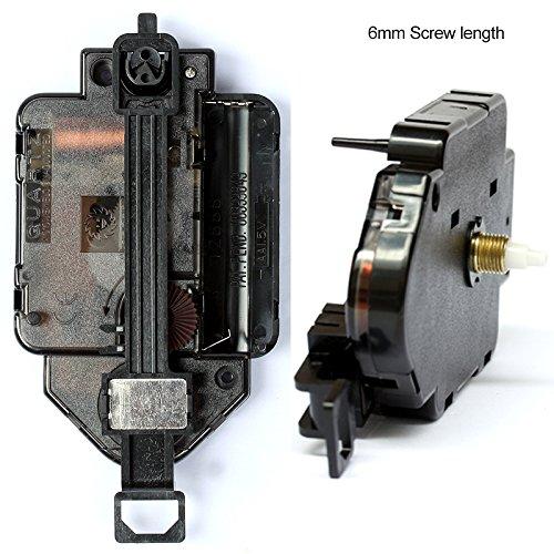 12888 Pendulum type Movement 6mm Screw length Plastic Movement With 92# black Hands Step Clock Accessory Silent Quartz DIY Movement Kits (6mm screw length)