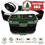 [Newest 2019] Rechargeable Bark Collar - Upgraded Smart Detection Module w/Triple Anti Barking Modes: Beep/Vibration/Shock for Small, Medium, Large Dogs Breeds - IPx7 Waterproof (Shock Version Pro)