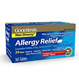 GoodSense Allergy Relief Loratadine Tablets, 10 mg, 365 Count Allergy Pills for Allergy Relief
