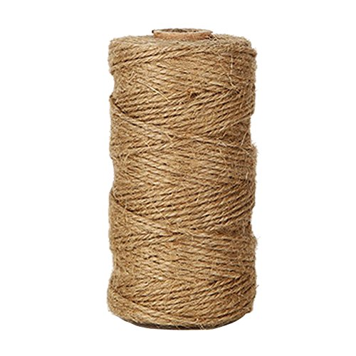 KINGLAKE 300 Feet Natural Jute Twine Best Arts Crafts Gift Twine Christmas Twine Industrial Packing Materials Durable String for Gardening Applications