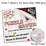 Jigsaw Puzzle Glue Mat Sticks - Adult Peel Stick with Strong Adhensive Paper Roll Up Frame Table Clear Saver