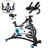 L NOW Indoor Cycling Bike Exercise Bike Stationary Bike Smooth Belt Driven with Phone Holder (Model D600)