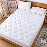 Decroom Cool Mattress Pad King,Down Alternative Quilted Mattress Protector,Hypoallergenic Breathable Fitted Sheet Matress Cover,King