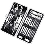 Manicure Pedicure Set Nail Clippers - 18 Piece Stainless Steel Manicure Kit, Professional Grooming Kit, Nail Tools with Luxurious Travel Case