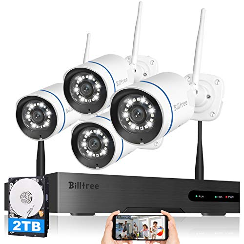 Floodlight-Siren-AlarmWireless-Security-Camera-System-Billtree-3MP-Ultra-HD-8CH-NVR-with-2TB-Hard-Drive-4Pcs-3MP-WiFi-Surveillance-Cameras-with-AI-Human-Detection2-Way-Audio-Color-Night-Vision