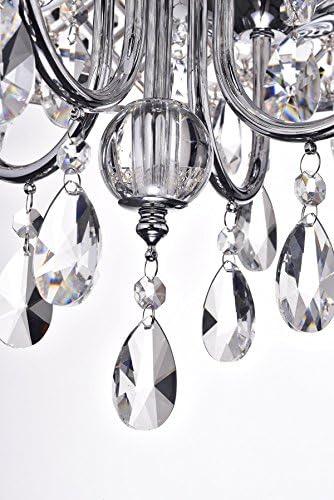 Edvivi Marya 4-Light Chrome Round Crystal Chandelier Ceiling Fixture | Beaded Drum Shade | Glam Lighting 6