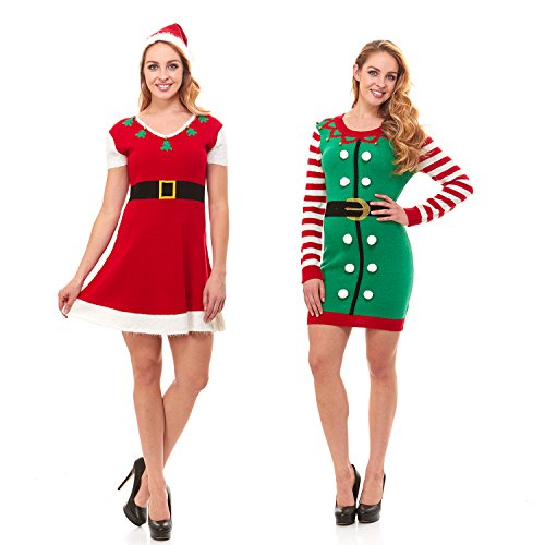 just one womens knit ugly christmas sweater dress xmas for women also plus size
