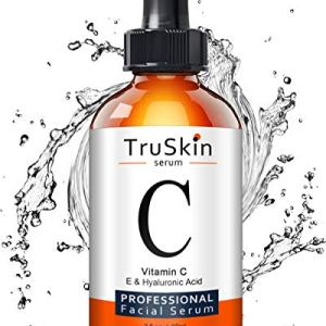 TruSkin Vitamin C Serum for Face, Topical Facial Serum with Hyaluronic Acid & Vitamin E 55