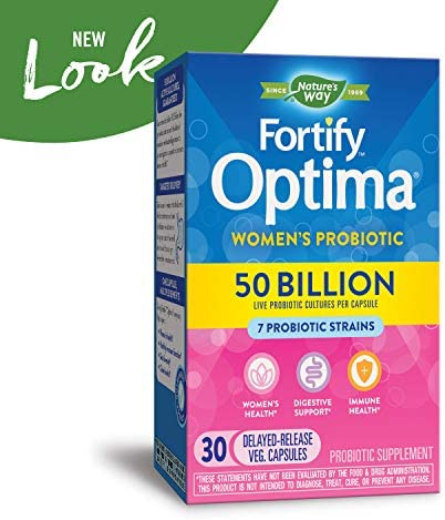 Fortify Optima Women's Daily Probiotic, 50 Billion Live Cultures, 7 Strains, 30 Capsules 3