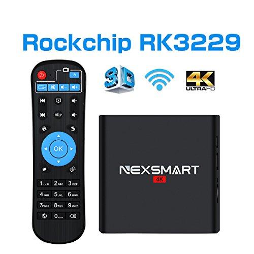 NEXSMART D32 Mini PC Rockchip RK3229 Quad-core Cortex A7 Android 6.0 Box 1GB 8GB 2.4GHz Wifi 4K UltraHD Smart Video Player