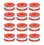 Quickload 0.065' Replacement Autofeed Spool for WORX String Trimmers (Compatible with WA0010), 12-Pack