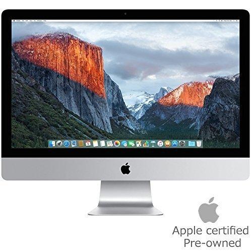 """Apple MK452LL/A iMac 21.5"""" AIO Desktop, 4K Retina Display, Intel Core i5-5675R Quad-Core 3.1GHz, 1TB SATA, macOS 10.11 El Capitan (Certified Refurbished)"""