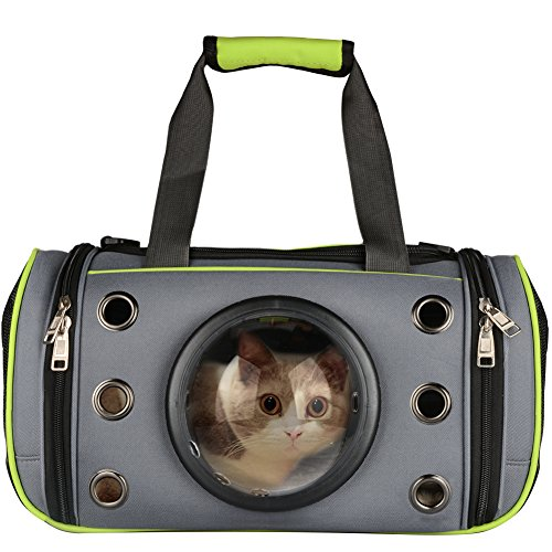 PETLOFT Innovative Pet Carrier, Deluxe Soft Sided Top & Side Loading Foldable Pet Travel Carrier for Cats and Small Dogs 1
