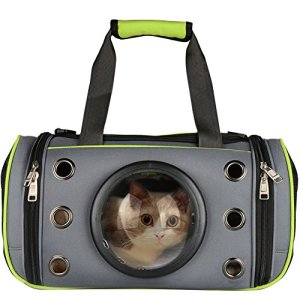 PETLOFT Innovative Pet Carrier, Deluxe Soft Sided Top & Side Loading Foldable Pet Travel Carrier for Cats and Small Dogs