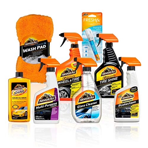 Armor-All-Premier-Car-Care-Kit-8-Items-3pc-Ultra-Wax-Wash-Kit-3pc-Interior-Glass-Cleaner-Air-Freshener-and-2pc-Tire-Shine-Wheel-Kit-18574