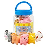 BOLEY (12-Piece) Farm Animal Bath Bucket - Farm Animal Toys Features Cow, Chicken, Pig and More! - Perfect Party Gift For Anyone Giving Educational Toys or Bath Toys For Toddlers