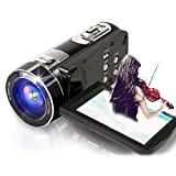 SEREE Camcorder FHD 1080P 24.0 MP Digital Camera HDMI Cable Included 16× Digital Zoom Handheld Portable Video Recording