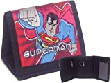 Superman Tri-fold Canvas Wallet Red