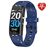 RobotsDeal Fitness Tracker Smart Watch H3 Plus Color Screen for Heart Rate Monitor Phone Enabled IP67 Waterproof Pedometer Sports Watch for Men (Blue)
