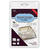 3L Scrapbook Adhesives Keepsake Envelopes, Mixed 10pk, Clear