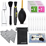 JAKAGO Professional Camera Cleaning Kit Cleaning Tools and Accessories for DSLR Cameras Computer Smartphone Keyboard (Air Blower/Double Sided Lens Cleaning Pen/Lens Brush/Lens Tissues)