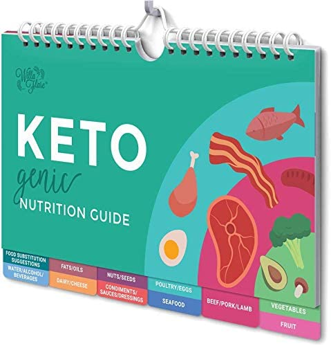Willa Flare Keto Cheat Sheet Magnets - Easy Reference for 192 Keto Snacks and Foods! Correct Ketogenic Measurements for your Keto Cookbook - Easy Keto Diet Fridge Guide PLUS Extra List of 500 Foods 11