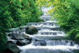 HUGE LAMINATED / ENCAPSULATED Fortuna Falls Horizontal Waterfall POSTER measures 36 x 24 inches (91.5 x 61cm
