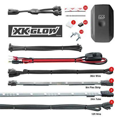 XK-Glow-KS-CAR-ADVANCE-Accent-Vehicle-Light-Kit-InteriorExterior-14-Piece