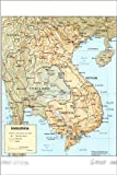 24x36 Poster; Cia Map Of Vietnam Laos Cambodia 1985 P2; Antique Reprint