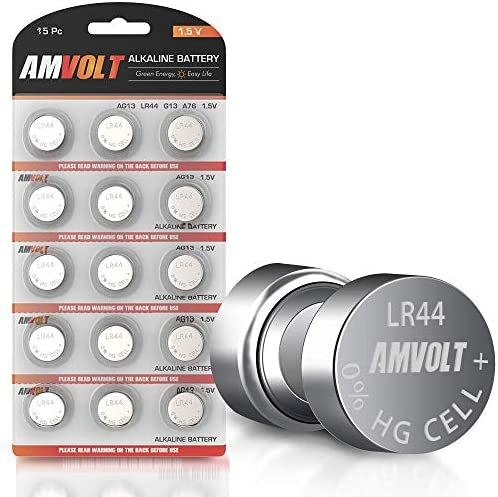15 Pack LR44 AG13 A76 Battery – [Ultra Power] Premium Alkaline 1.5 Volt Round Button Cell Batteries for Watches Clocks Remotes Games Controllers Toys & Electronic Devices (15 Pack)
