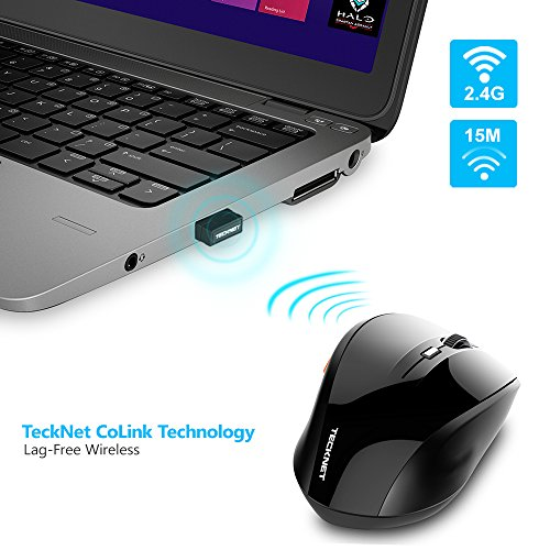 aff91c9de2c TeckNet Classic 2.4G Portable Optical Wireless Mouse with USB Nano Receiver  ...