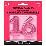 Amscan No. 16 Glitter Candle | Sweet Sixteen Collection | Birthday
