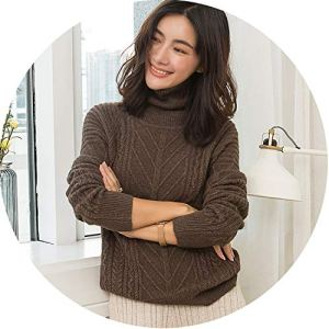 New Cashmere Knitted Sweater Women Tops Turtleneck Autumn Winter Female Pullover