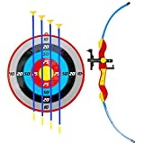 Liberty Imports Larger Archery Bow and Arrow Set for Kids with Suction Cup Arrows and Target Sport Toy