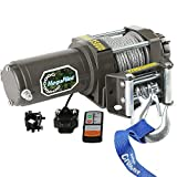 ATV Winch 3500LBS/1590kgs Electric Winches for 12V UTV Winch Utility Winch with Both Wireless Handheld Remote and Corded Control Recovery Upgrade Winch