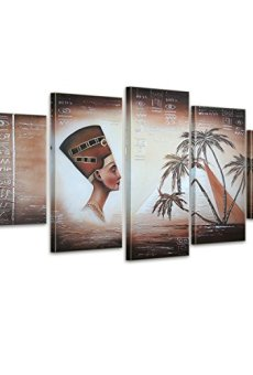 Bilderdepot24 Pyramids in Egypt M2-5 pictures aprox.150×70 Complete Handpainted – Pictures completely framed with wedge frames. 610