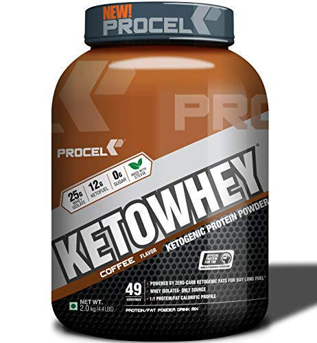 PROCEL KETOWHEY Keto Protein Shake with Coconut Oil & MCTs 2kg (Coffee)