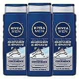NIVEA Men Shower & Shave 3-in-1 Body Wash - Shower, Shampoo and Shave With Moisture - 16.9 fl. oz...
