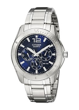 Citizen Men's Quartz Stainless Steel Watch with Day/Date, AG8300-52L