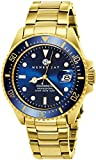 Henry Jay Mens 23K Gold Plated Stainless Steel 'Specialty Aquamaster' Professional Dive Watch