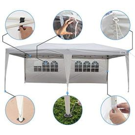 Goutime-10x20-Feet-Ez-Pop-Up-Canopy-Instant-Tent-Shelter-with-4Pcs-10Ft-Removable-Sidewalls-for-Outdoor-Commercial-Party-Events