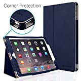 iPad Air Case, [Corner Protection] CaseCrown Bold Standby Pro (Blue) with Sleep/Wake, Hand Grip, Corner Protection, Multi-Angle Viewing Stand (Compatible w/New iPad 2017 Model)