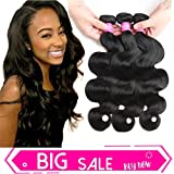 Original Queen Brazilian Virgin Hair Body Wave 100% Human Hair 3 Bundles Weaves Unprocessed Hair Extensions Natural Color 10 12 14 Inches