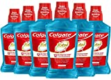 Colgate Total Alcohol Free Mouthwash, Peppermint - 500 mL, 16.9 fluid ounce (6 Pack)