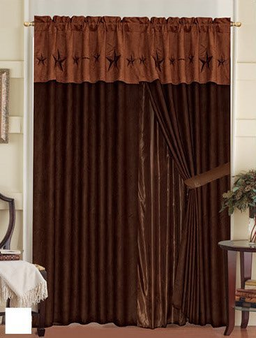 Western Embroidery Star Curtains