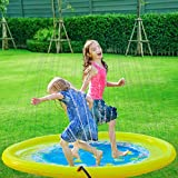 Splashin'kids 68' Sprinkle and Splash Play Mat Pad Toy for Children Infants Toddlers,Boys, Girls and Kids Perfect Inflatable Outdoor Sprinkler pad Watch Video Toys for 5year olds