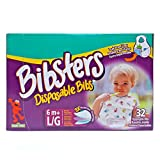 Bibsters Sesame Street Large Disposable Bibs with Patented Crumb-Catcher, Leakproof Liner, and Reusable Fastener -Age 6 Months and Up